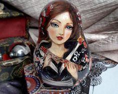 Matryoshka Doll *Nevaliashka Roly Poly Doll * Сollectible art doll * Musical Tumbling Doll *Girl in kimono with flute