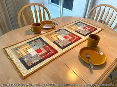 Fancy Squares Quilted Table Runner Pattern #580