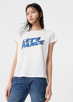 Message cotton t-shirt   MANGO