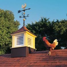 Roof-top cupolas can be used for both decoration and ventilation. In the days before roof and ridge vents, a cupola was the most effective way to ventilate a stable, barn or even a house, and with new, rot-resistant materials they still work well.
