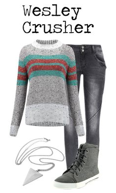 """""""Wesley Crusher"""" by waywardfandoms ❤ liked on Polyvore featuring Shellys and startrek"""