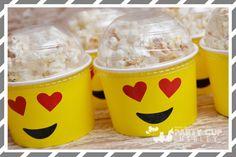 Emoji popcorn heads