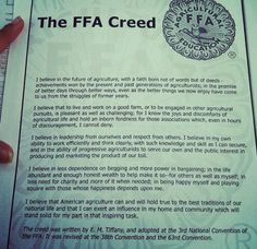 ffa creed with blanks can be used when first introducing the creed as a worksheet or as an. Black Bedroom Furniture Sets. Home Design Ideas