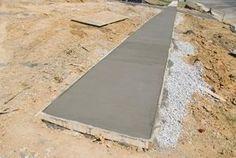 How to Build a Walkway With Precast Concrete Molds thumbnail Concrete Patios, Concrete Paver Mold, Concrete Forms, Precast Concrete, Poured Concrete, Concrete Projects, Stained Concrete, Concrete Curing, Concrete Walkway