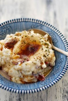 Brown Buttered Mashed Potatoes - 3 to 4  lb. unpeeled, red potatoes, quartered, 1/3 to 1/2 cup sour cream (adjust as necessary, 3 oz. Romano cheese, 1 to 2 teaspoons fresh, minced garlic,  2 teaspoons horseradish, 1 Tablespoon dried parsley leaves, 1 teaspoon onion powder, 1 stick of butter, cooked in a skillet until golden brown, coarse sea salt,  freshly ground black pepper.