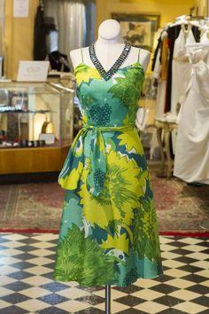 Cabaret Vintage - Vintage Green Tropical Multi-Style Dress, $165.00 (http://www.cabaretvintage.com/dresses/vintage-green-tropical-multi-style-dress/)