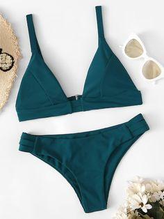 Shop Ladder Cut-out Bikini Set online. SHEIN offers Ladder Cut-out Bikini Set & more to fit your fashionable needs. Summer Bathing Suits, Cute Bathing Suits, Summer Suits, Cute Bikinis, Cute Swimsuits, Summer Bikinis, Cut Out Bikini, Bikini Set, Bikini Swimwear