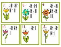 Garden- Math Center Fun (Spring)-Read the room tally cards and recording sheet