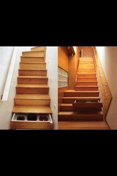 Stair storage (courtesy of The SHTF)