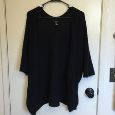 Sweater Kimono style black woven sweater Forever 21 Tops