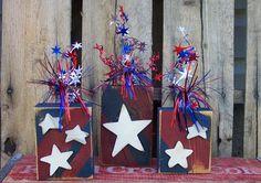 4th of July Firecracker 2x4 Wood Craft Pattern on Etsy, $6.50