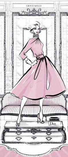 ♔ i l l p o p {fashion illustration} ~Dior | House of Beccaria