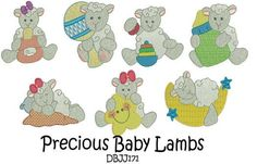 Baby Lambs Sheep Machine Embroidery Designs | Designs by JuJu
