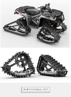 Can-Am's Apache Backcountry Track System Helps Your ATV Conquer the Snow Can Am, Atv Gear, Atv Accessories, 4 Wheeler Accessories, Snow Vehicles, Best Atv, Sv 650, Atv Riding, Quad Bike