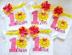 You are my sunshine shirt onesie bodysuit,1st Sunshine birthday onesie,1st 2nd 3rd sunshine birthday bodysuit,First sunshine birthday outfit by KidsFunLand on Etsy https://www.etsy.com/listing/238097944/you-are-my-sunshine-shirt-onesie