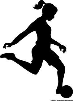 Girls Soccer Silhouette Clipart