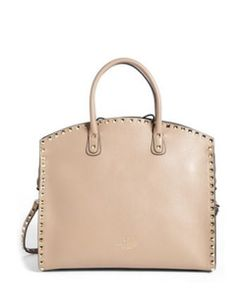 Valentino 'Rockstud' Leather Dome Satchel