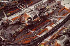 Cronus movie spaceship by Darko Markovic   Transport   3D   CGSociety
