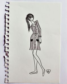 Thank you so much for the warm response to my upcoming clothing collection with ModCloth! Per your request,. Amazing Artwork, Cool Artwork, Little Doodles, Shape And Form, Beautiful Mess, Fashion Sketches, Modcloth, Just Love, Sketching