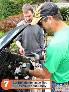 Working as a team - 7 Car DIY Maintenance Safety Tips #MasteringAuto  sponsored  Want to win a $100 American Express Card? Visit the blog and tell me what car maintenance you do.