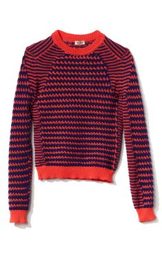 Neon Basket Stitched Knit by Kenzo for Preorder on Moda Operandi