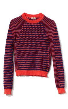 Kenzo Neon Basket Stitched Knit