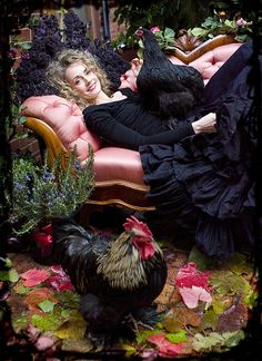 I want my portrait with my chickens--- just like this!