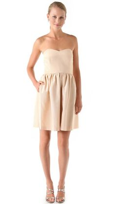 Thread Olivia Strapless Dress from SHOPBOP, $97.50 USD.     This dress provides the perfect neutral canvas for your bridesmaids to dress up with their own choice accessories.  Dress these frocks up with embellished belts for a luxe touch.      Buy it from  Weddingbells Shopping .