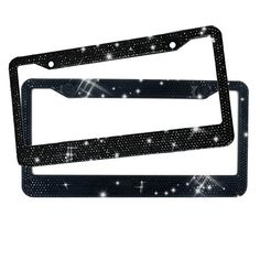 Bling Green Color Crystal Rhinestone License Plate Frame+Cap-AA