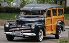 1946 Ford Super Deluxe woody.Re-pin brought to you by agents of #carinsurance at #houseofinsurance in Eugene, Oregon
