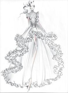 Fashion Illustration - Dress design sketches - Source by Dress Design Drawing, Dress Design Sketches, Fashion Design Sketchbook, Dress Drawing, Fashion Design Drawings, Dress Designs, Fashion Drawing Dresses, Fashion Illustration Dresses, Fashion Model Sketch
