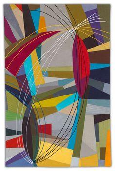 Improv art quilt by Karen Schulz | fiber artist