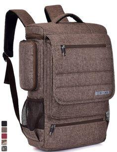 581a541e078d SOCKO inch Laptop Backpack Travel Bag Hiking Bag Knapsack Rucksack For Dell    Toshiba   Acer   HP   Lenovo   Business   College   Men   Women (Brown)