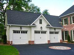 Functional Detached Garage Plans with Bonus Room and Bathroom: Luxury Traditional White Detached Garage Plans Home Design Ideas ~ stepinit.com Garage Designs Inspiration