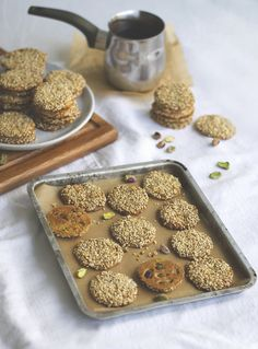 Barazek Sesame Pistachio Cookies   Brownie Box