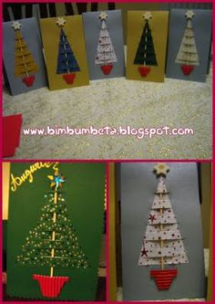 con alberelli natalizi