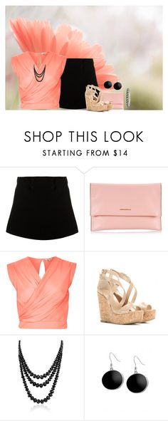 """""""Flower Background"""" by cherrykisses88 ❤ liked on Polyvore featuring Paul & Joe, Coccinelle, River Island, Jimmy Choo, Bling Jewelry and Karen Kane"""