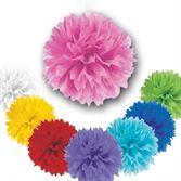 Party Deko | Pompons - 3 Dekobälle Farbwahl