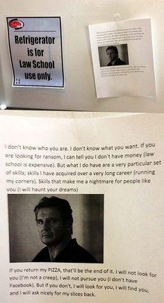 Liam Neesons Pizza is Taken