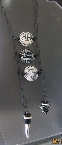 Handcrafted Glass Beads and Jewelry by Patricia Larsen by PLarsenArtGlass Diy Jewelry Necklace, Bead Jewellery, Jewelry Crafts, Jewelry Art, Beaded Jewelry, Jewelry Design, Ceramic Jewelry, Enamel Jewelry, Polymer Clay Jewelry
