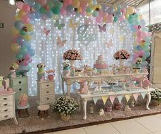 Machen Sie einen DIY Popsicle Stick Snowflake Building Kit - New Ideas Butterfly Party Decorations, Butterfly Birthday Party, Girls Party Decorations, Butterfly Baby Shower, Girl Birthday Themes, Garden Birthday, Baby Girl Birthday, Birthday Parties, Baby Shower Princess