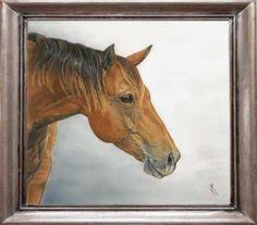 Horse framed pastel portrait