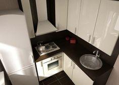 Сделала небольшую подборку для обладателей хрущевских кухонь в панельных домах. Как правило, это кухни менее 6 кв.м. Если не трогать планировку и оставить все как есть, самым традиционным вариантом яв…