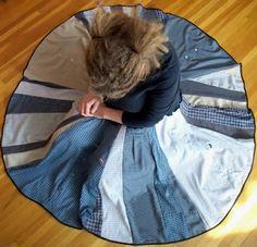 indietutes: Pt 1: button down shirts to circle skirt (basic circle skirt)