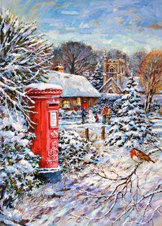 Harrison Ripley - Darren Pinder Postbox Village Scene. jpg.jpg