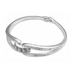 Hot Sale Gone with Wind Crystal Inlaid Double-ring Design Bracelet for Christmas - http://www.nuestmall.com/items/12118