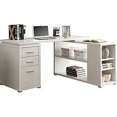 Monarch® Hollow-Core Left or Right Facing Corner Desk, White at Staples $420