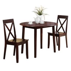 OSP Designs Espresso 3-Piece Dining Set from Lowes