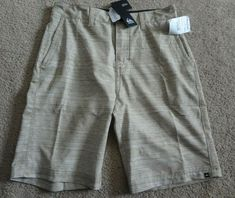 3dfc2f33 Quiksilver Men's Size 28 Tan Shorts NWT Made In Vietnam  92%Polyester/8%Elastane #Quiksilver #Shorts #Casual