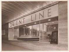Orient Line window, c. 1930s, by Sam Hood | Flickr - Photo Sharing!